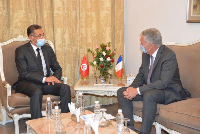 ministere de linterieur francetunisieinfo - Le Ministre de l'intérieur Tunisien, reçoit l'Ambassadeur de France en Tunisie