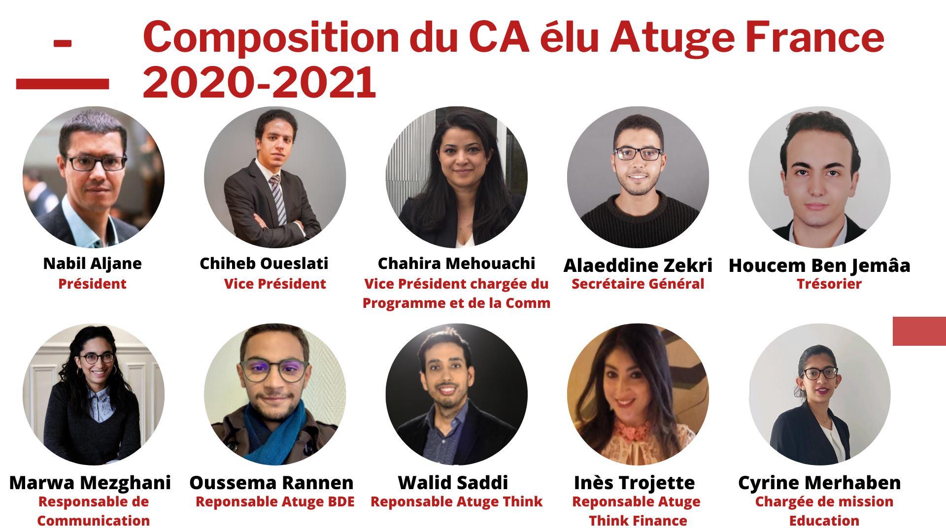 Atuge FranceTunisieInfo - Élection du nouveau CA de l'ATUGE 2020/2021