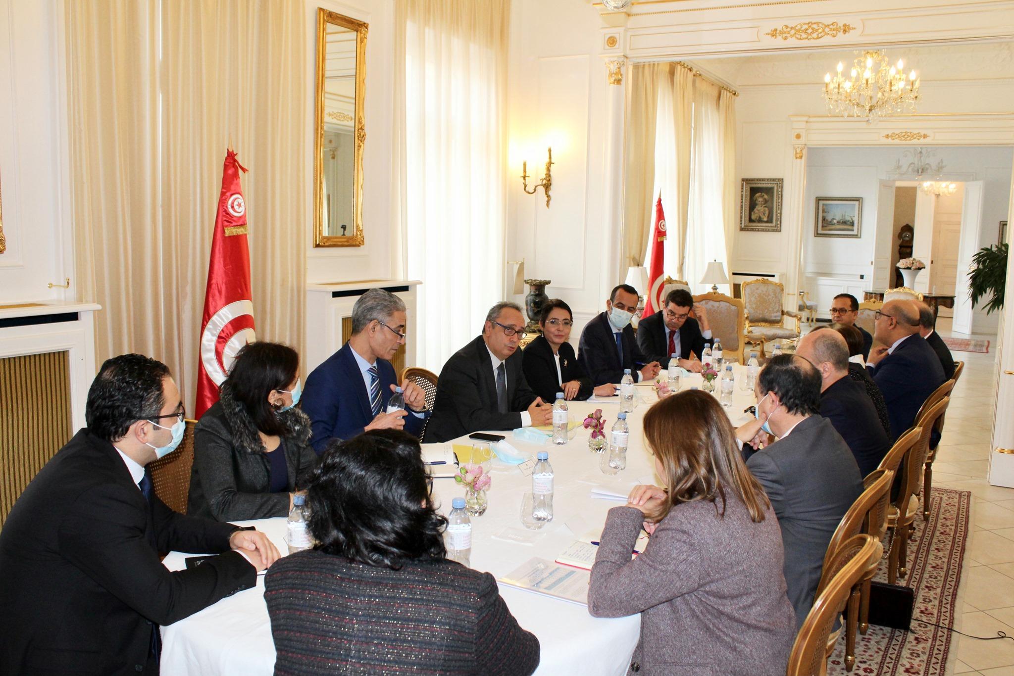 ambassade de Tunisie France Francetunisieinfo - Réunion de coordination à l'Ambassade avec les structures d'appui tunisiennes en France