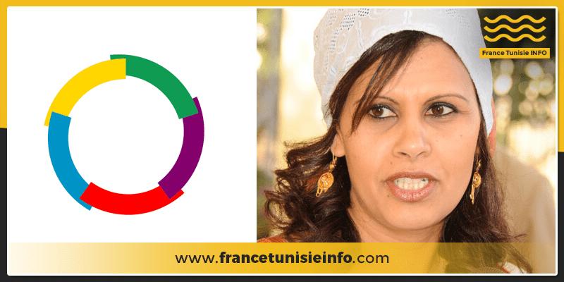 Haoua Acyl, la représentante de l'Organisation Internationale de la Francophonie remet sa lettre d'introduction à Othman Jerandi