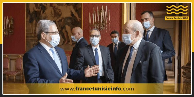Jean-Yves le Drain reçoit le Chef de la diplomatie tunisienne