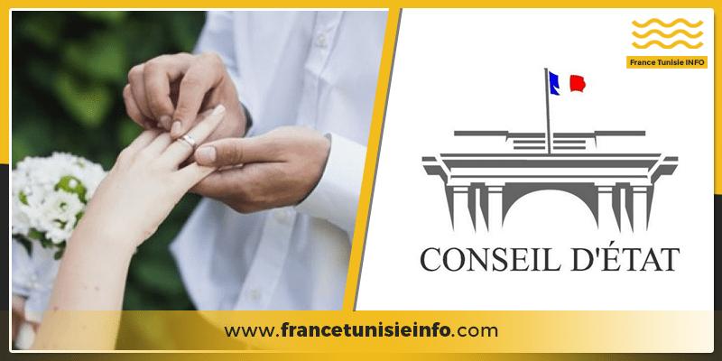 Le Conseil d'Etat considère que le déplacement en France pour se marier est un motif impérieux