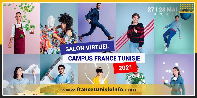 Le premier Salon virtuel Campus France Tunisie les 27 et 28 mai 2021