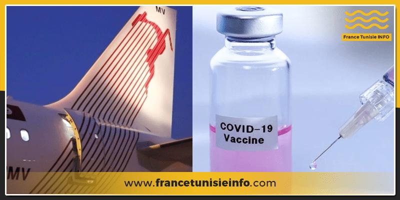 Tunisair : Avis aux passagers vaccinés qui se rendent en France