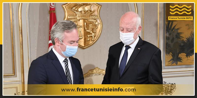 jean baptiste lemoyne francetunisieinfo - Jean-Baptiste Lemoyne remet à Kaïs Saïed un message manuscrit d'Emmanuel Macron